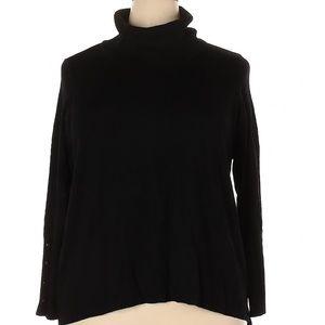ALFANI Woman Black Mock Neck Sweater